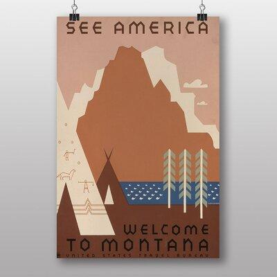 Big Box Art See America Montana Vintage Advertisement