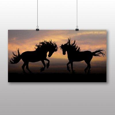 Big Box Art Wild Horses Photographic Print on Canvas