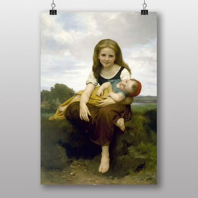 "Big Box Art ""The Elder Sister"" by William Adolphe Bouguereau Art Print"