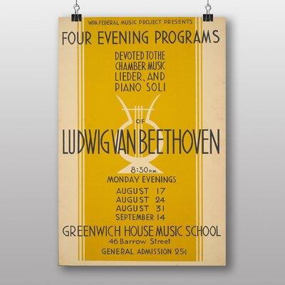 Big Box Art Ludwig Van Beethoven Vintage Advertisement