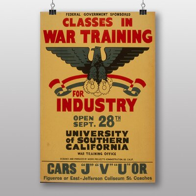 Big Box Art War Training Vintage Advertisement