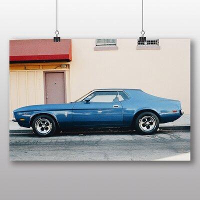 Big Box Art 'Vintage Blue Car' Photographic Print