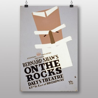 Big Box Art On The Rocks Vintage Advertisement