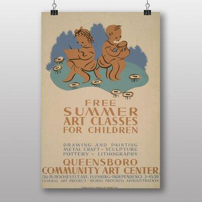 Big Box Art Summer Art Classes Vintage Advertisement