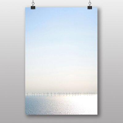 Big Box Art Wind Turbines Photographic Print on Canvas