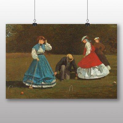 Big Box Art 'Croquet' by Winslow Homer Art Print
