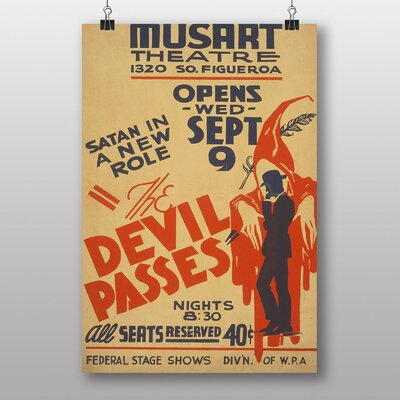 Big Box Art The Devil Passes No.1 Vintage Advertisement