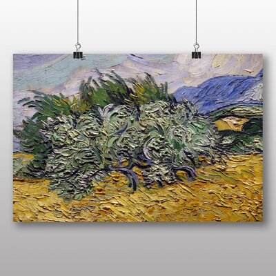 Big Box Art 'Wheat Field with Cypresses No.2' by Vincent Van Gogh Art Print