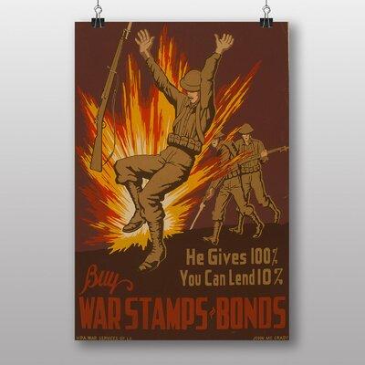 Big Box Art War Stamp Bonds Vintage Advertisement