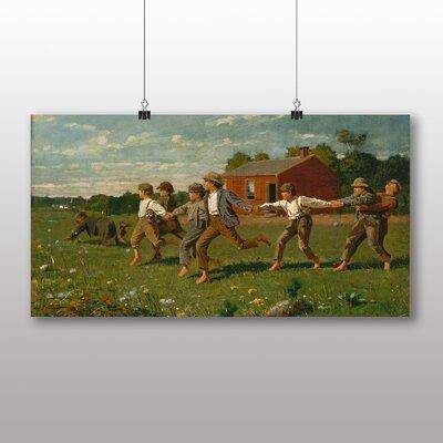 Big Box Art 'Snap the Whip' by Winslow Homer Art Print