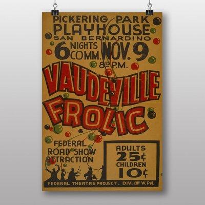Big Box Art Vaudeville Frolic No.2 Vintage Advertisement
