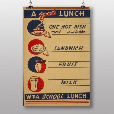 Big Box Art School Lunch Vintage Advertisement