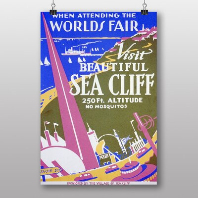Big Box Art Visit Sea Cliff Vintage Advertisement