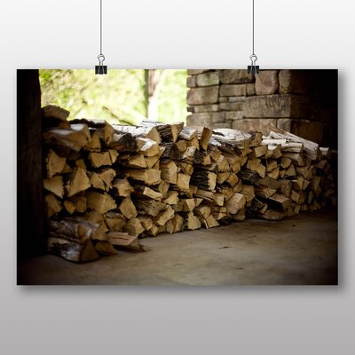 Big Box Art 'Wooden Logs' Photographic Print