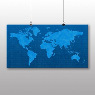 Big Box Art World Map No.2 Graphic Art Wrapped on Canvas