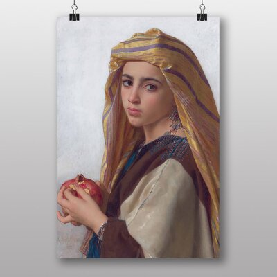 Big Box Art Girl with a Pomegranite by William Adolphe Bouguereau Art Print