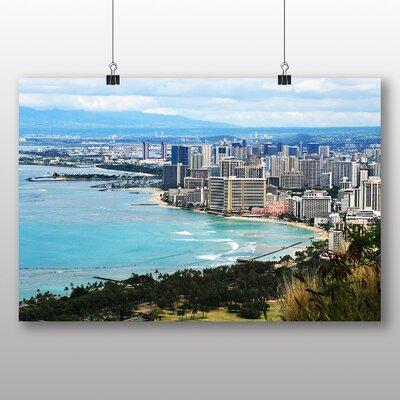 Big Box Art Waikiki Beach Hawaii Honolulu Photographic Print Wrapped on Canvas