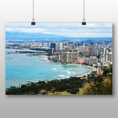 Big Box Art Waikiki Beach Hawaii Honolulu Photographic Print
