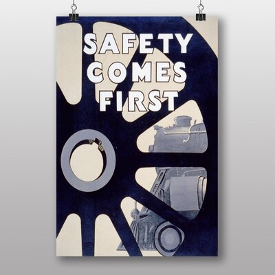 Big Box Art Safety Cmes First Vintage Advertisement