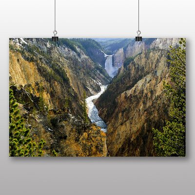 Big Box Art Waterfall Yellowstone Wyoming USA Photographic Print Wrapped on Canvas