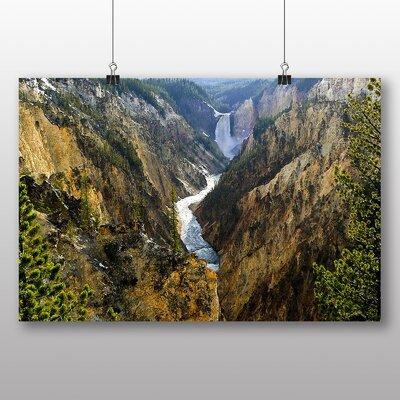 Big Box Art Waterfall Yellowstone Wyoming USA Photographic Print