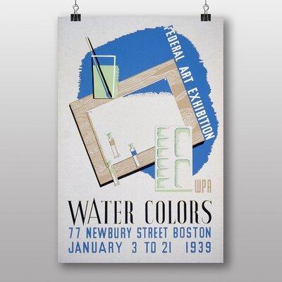 Big Box Art Water Colours Graphic Art