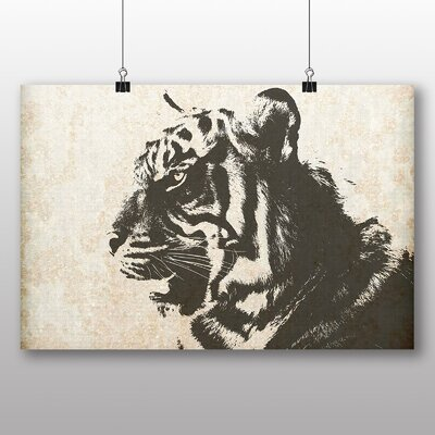 Big Box Art White Bengal Tiger No.2 Photographic Print Wrapped on Canvas