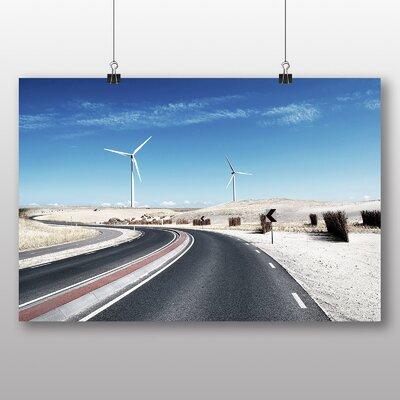 Big Box Art 'Wind Turbine Road' Photographic Print