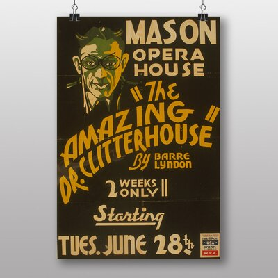 Big Box Art The Amazing Dr Clitterhouse Vintage Advertisement