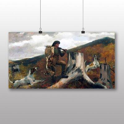 Big Box Art 'A Huntsman and Dogs' by Winslow Homer Art Print