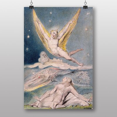 Big Box Art Night Startled by the Lark by William Blake Art Print
