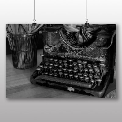 Big Box Art Vintage Typewriter No.1 Photographic Print Wrapped on Canvas