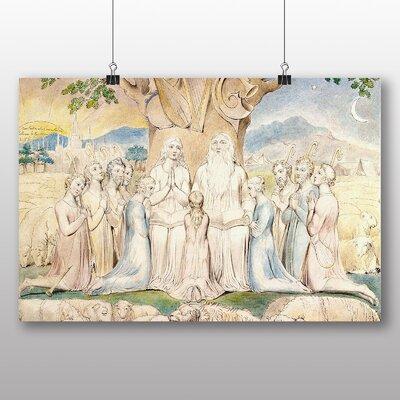 Big Box Art 'Job and His Family' by William Blake Art Print