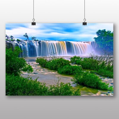 Big Box Art Waterfall No.10 Photographic Print Wrapped on Canvas