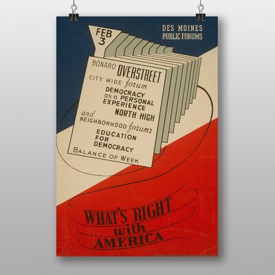 Big Box Art Whats Right with America Vintage Advertisement