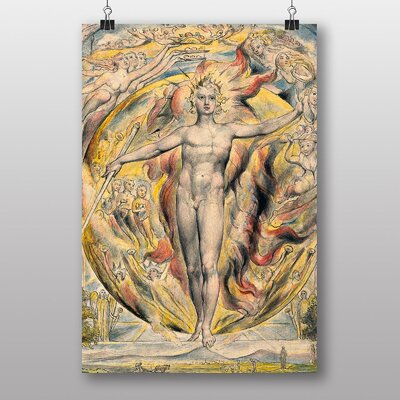 "Big Box Art ""Sun at his Eastern Gate"" by William Blake Art Print"