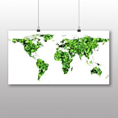 Big Box Art World Map No.4 Graphic Art Wrapped on Canvas