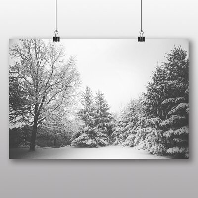 Big Box Art 'Winter Forest with Snow' Photographic Print