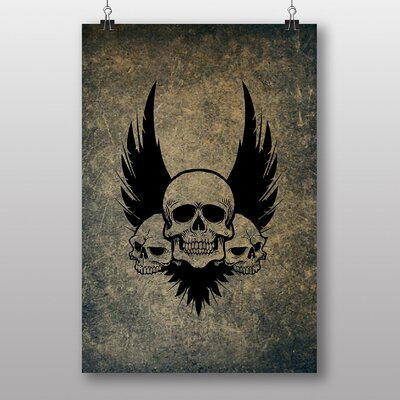 Big Box Art 'Wings and Skulls' Graphic Art