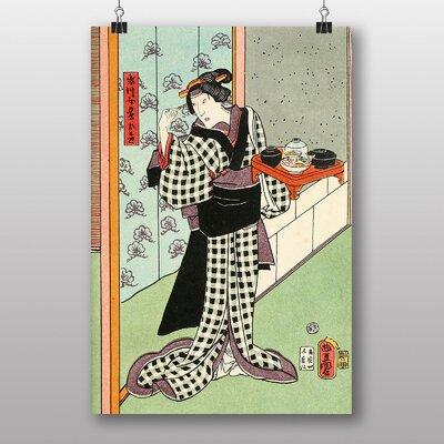 Big Box Art Woman Japanese Oriental Art No.3 Art Print
