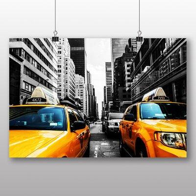 Big Box Art Yellow Taxi Cab New York City No.1 Photographic Print on Canvas