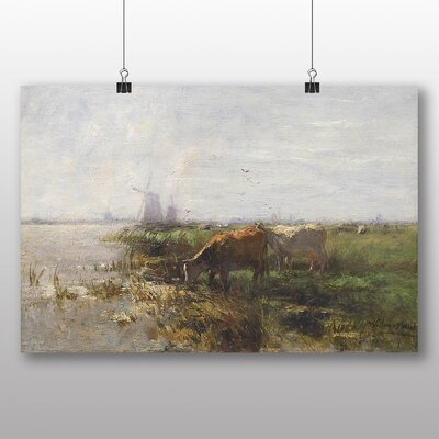Big Box Art Cows by Water No.2' by Willem Maris Art Print