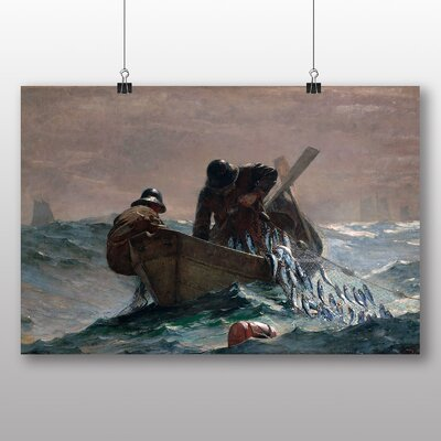Big Box Art 'Pulling in the Catch' by Winslow Homer Art Print