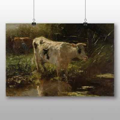 Big Box Art 'Cow by Water' by Willem Maris Art Print