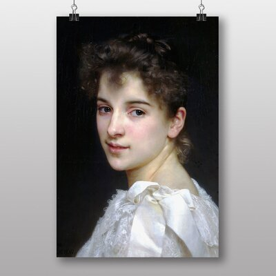 "Big Box Art ""Gabrielle Cot"" by William Adolphe Bouguereau Art Print"