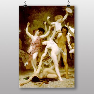 """Big Box Art """"Youth of Bacchus"""" by William Adolphe Bouguereau Art Print"""
