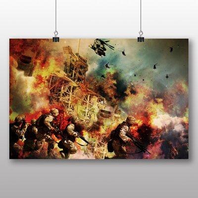 Big Box Art War Battle Scene Army No.2 Graphic Art Wrapped on Canvas