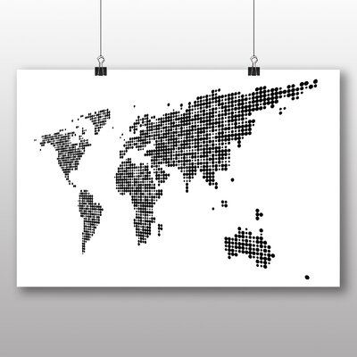 Big Box Art World Map No.3 Graphic Art on Canvas