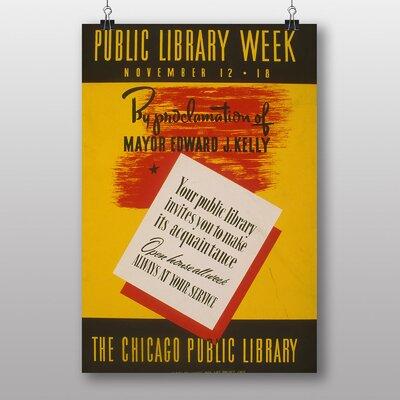 Big Box Art Chicago Library Vintage Advertisement