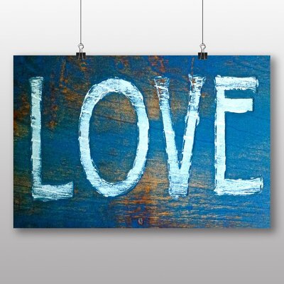 Big Box Art 'Wooden Love Sign' Typography